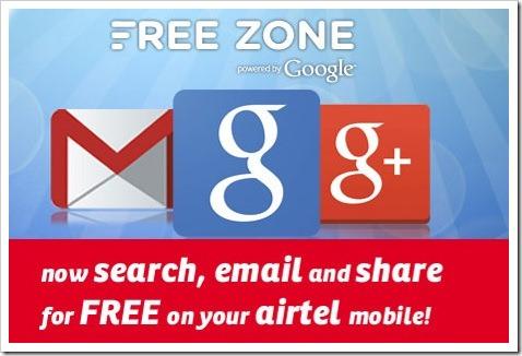 google airtel free zone