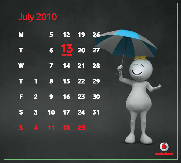 Jul Download Vodafone ZooZoo 2010 Calendar