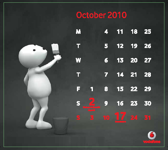 Oct Download Vodafone ZooZoo 2010 Calendar