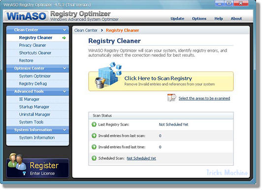 Registry Optimiser