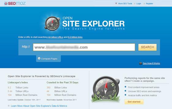 SEO Tools Open site explorer