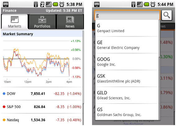 google-finance-android