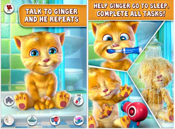 talking ginger app