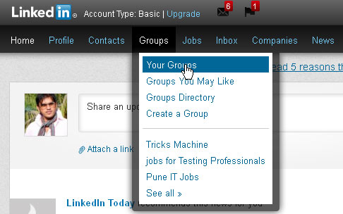 Unsubscribe rom LinkedIn Group