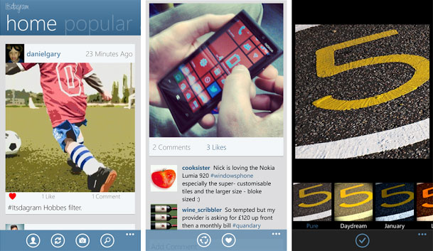 Instagram App For Windows Phone 8