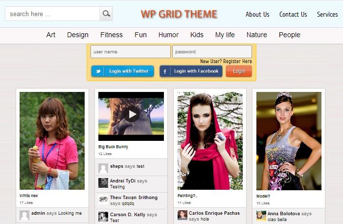 wp grid theme