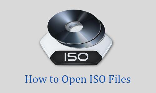Open ISO Files