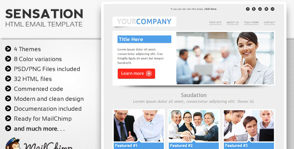 Sensation Email Template