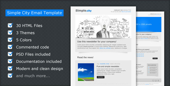 Simple City – Email Newsletter Template