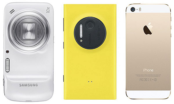 iPhone 5S vs Samsung Galaxy S4 Zoom vs Nokia Lumia 1020