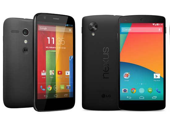 Motorola Moto G Vs Google Nexus 5