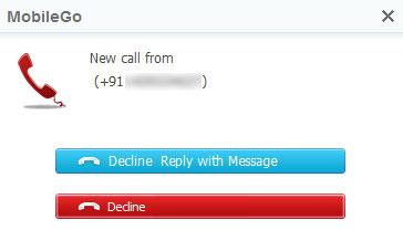 MobiGo Accept and Reject Calls