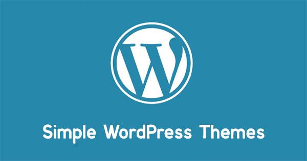 simple wordpress themes