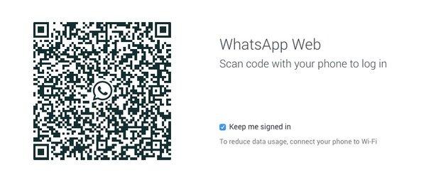 Whatsapp web qrcode