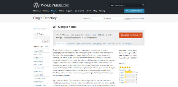WP-Google-Fonts