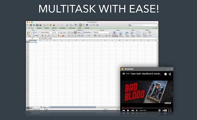 ScreenOut Multitasking